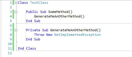 Visual studio tip #4: Generate method stub in VB NET 2010